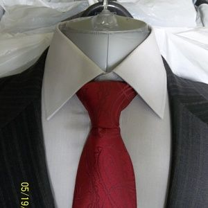 Soto33-42- Jos A Bank Gray Multi Color Stripe Suit